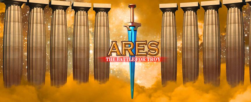 Rewrite history and earn your riches in the online Slot, Ares: The Battle for Troy. Your mission is simple. Make your way to the City of Troy and collect all the gold and silver you desire. Put on your helmet, choose your body armour and watch your enemies cower. Stand up against Ares, the god of war, and get in on the action in this 5-Reel Slot odyssey. There are 243 different ways to win so enjoy some uncomplicated fun and take a spin now.