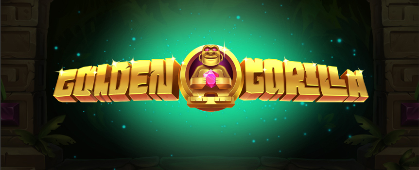 Step into an ancient temple where a monstrous gorilla rules … the Golden Gorilla slot machine! Five reels, three paylines, and endless free spins and expanding wilds.