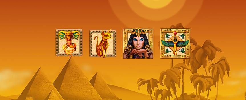 Uncover the hidden riches of Cleopatra when you play the online Slot, Queen of Kings. This ancient pharaoh won over the people of Egypt during her long reign. She was powerful and mysterious and when she was buried so too were her riches and secrets. After two thousand years, it's time to rewrite history and see what kind of treasure the beautiful Queen of Kings was hiding. Spin the reels to find out what lies beneath and build your own empire.