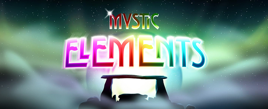 Unlock the magic of the elements with the Mystic Elements slot machine. 5 reels and 10 paylines will give you a chance at Earth, Water, Air, Fire, Ether, and Light!